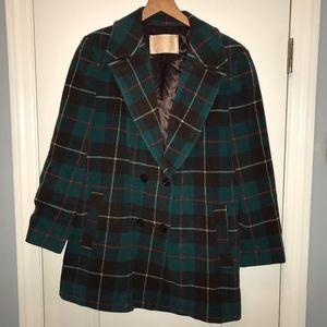 Vintage Pendelton Wool Plaid OverCoat USA Women L